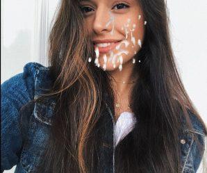 Beautiful Spanish celebrity Marta Diaz covered in cum