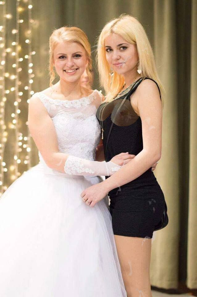 Sexy bride and her cum covered friend