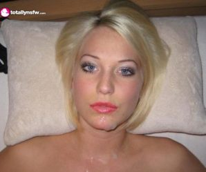 Pretty German girl facial
