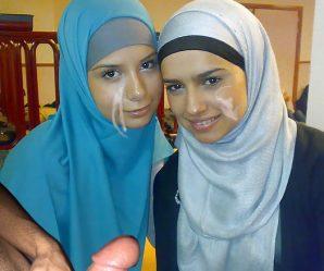 Beautiful cum covered muslim girls