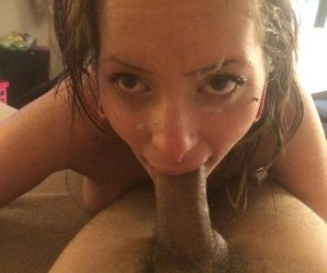 Brunette keeps deep throating after facial