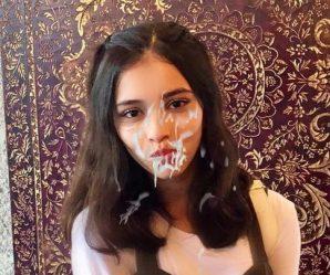 Pretty Arab girl has facial