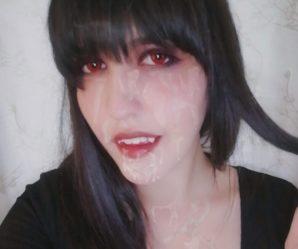 Cum eating vampire girl