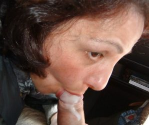 Real housewife has cum dumped on her