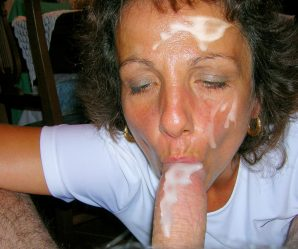 Somebodies wife covered in cum