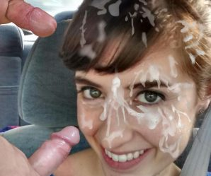 Pretty babes with dicks in their faces