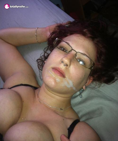 Brunette Big Tits Facial