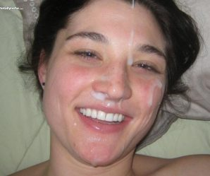 Nice facial on amateur babe
