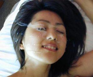Gorgeous Asian cummed on face
