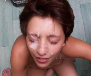 Lady Gaga lookalike takes cum facial