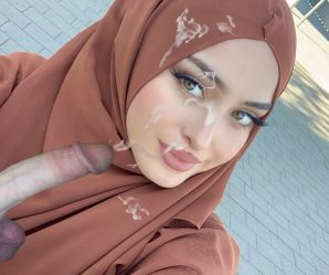 Pretty muslim lady cum faked