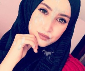 Pretty middle eastern babe cum faked