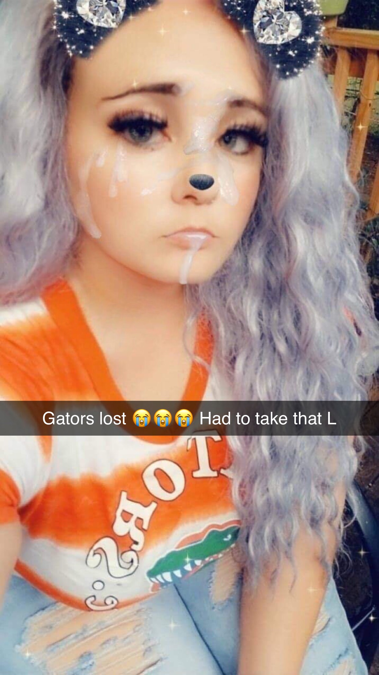 Football Girl Loses and Takes a Facial
