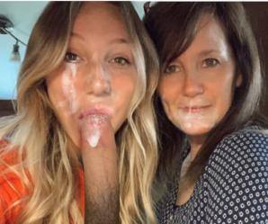 Mother and daughter cum sluts