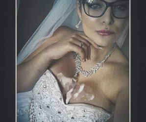 Bride takes cum in her tits