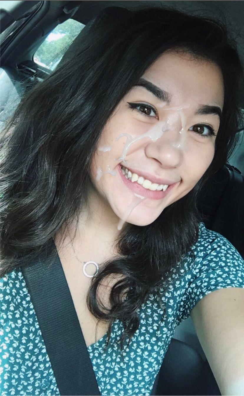 Asian girl cumshot