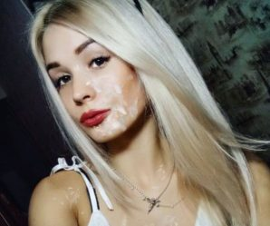 Pretty blonde cum faked