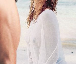 Pretty french girl at the beach looks great with cum